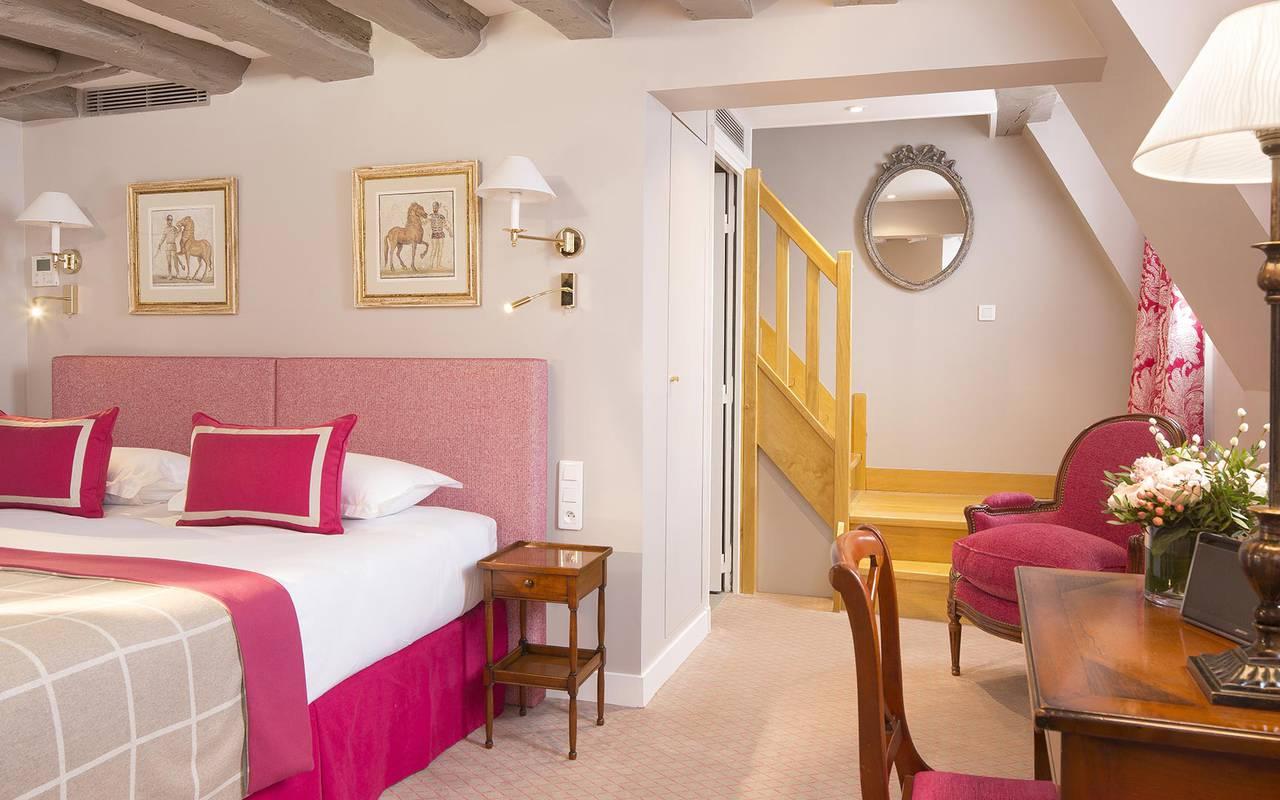 Chambre cozy rose hotel rue saint honore