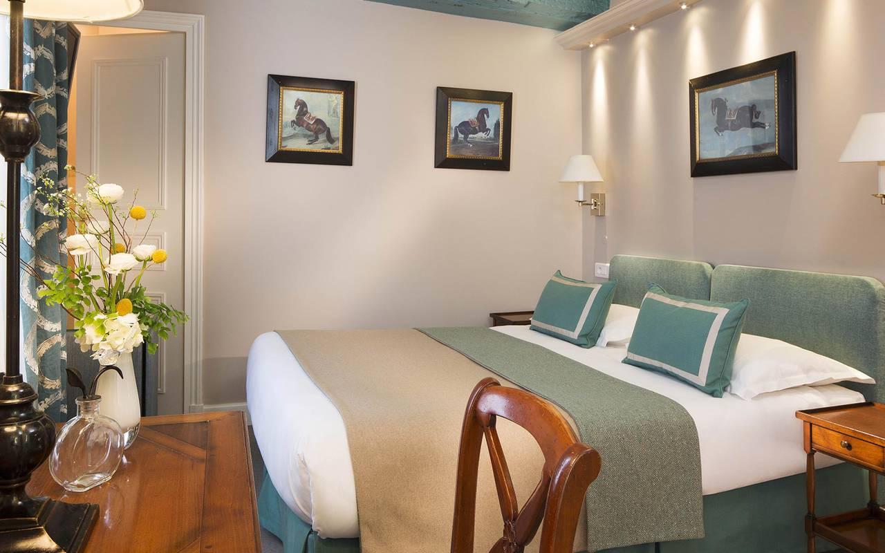 Chambre double authentique hotel rue saint honore
